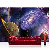 Vlies Fototapete 350x245 Cm PREMIUM PLUS Wand Foto Tapete Wand Bild  Vliestapete   Sternenhimmel Tapete Weltraum
