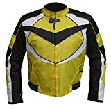 1539 Bangla Sportliche Kurze Motorrad Jacke Cordura schwarz gelb L