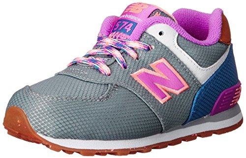 New Balance KL574 Expedition Running Shoe (Infant/Toddler) Grey/Pink
