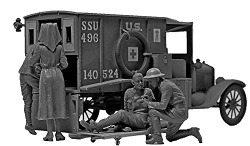 ICM 35694Figuras WWI US Medical Personnel, Juego