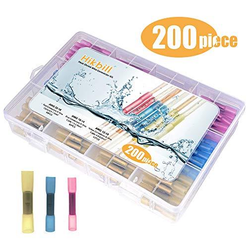 Insulated Kabelverbinder Stoßverbinder Schrumpfstoßverbinder Wasserdicht Quetschverbinder Set 200 stück (Wasserdichte Spleiße)