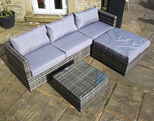 rattan outdoor 4 seat corner sofa - Rattan Garden Furniture 4 Seater