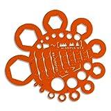 Minerva M79352400 Nut Stencil Round Orange