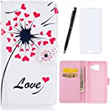 Samsung Galaxy A3 2016 Coque-Lotuslnn Flip Housse Etui Cuir Samsung Galaxy A3 2016 Cases and Covers Flip Style pour Samsung Galaxy A3 2016-(magnetic closure Coque + Stylus Pen + Screen Protector)