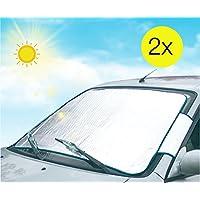 Juego de 2auto Protección Auto Pantalla Hielo–Protector de pantalla (delantera y trasera (Parabrisas) & Luna trasera) scheibenabdeckung para invierno nieve Frost & hielo