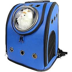 bolsos para perros Space Cabin Pet Carrier mascotas transpirables gato portador mochila perro de mascota al aire libre portátil paquete de bolsas de gato Pet Travel Dog Carrier , 2