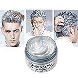 YiKiMira - Cera para el pelo temporal, color gris y plateado, para fiestas, disfraces, discotecas, máscaras, Halloween
