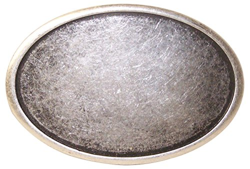 Fronhofer Ovale Gürtelschnalle Buckle Damen 4,5 cm altsilber Schnalle, 18326, Farbe:Silber, Größe:One Size