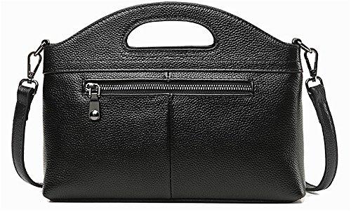Xinmaoyuan Borse donna Ladies Handbag borsette in cuoio tracolla messenger bag Cowboy Borsa intrecciata Nero
