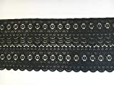 Spitze Spitzenband schwarz 3 Yard lang 20 cm breit Sp415