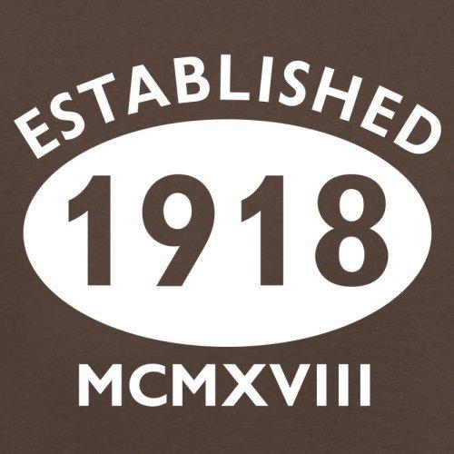 Gegründet 1918 Römische Ziffern - 99 Geburtstag - Herren T-Shirt - 13 Farben Schokobraun