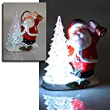 (021) LED Weihnachtfigur Weihnachtsmann Schneemann beleuchtet mit Farbwechsel ((021) Weihnachtsmann)