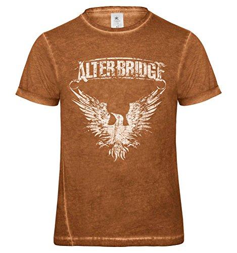 LaMAGLIERIA Herren T-Shirt Vintage Look Alter Bridge White Logo Grunge Print Cod. Grpr0018