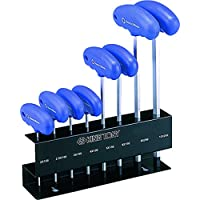 KING TONY 21208MR Set 6-Sided Hex Key with T-Handle Metric on Stand, Set of 8 preiswert
