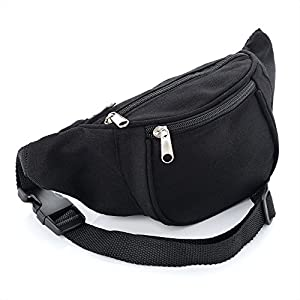 51cGRyLAzvL. SS300  - Black Canvas Bum Bag / Fanny Pack - Festivals /Club Wear/ Holiday Wear