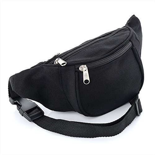 51cGRyLAzvL. SS500  - Black Canvas Bum Bag / Fanny Pack - Festivals /Club Wear/ Holiday Wear
