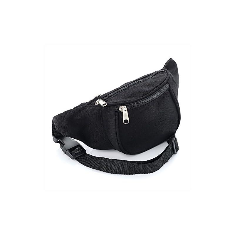 Black Canvas Bum Bag / Fanny Pack – Festivals /Club Wear/ Holiday Wear
