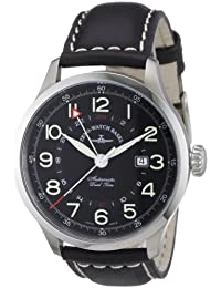 Zeno Watch Basel Men's Automatic Watch Retro Tre 6302GMT-a1 with Leather Strap