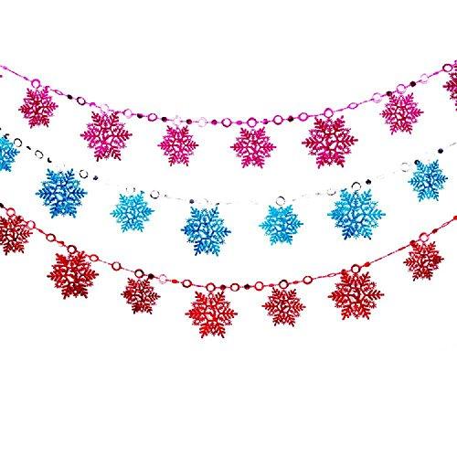 2 m Weihnachten Schneeflocke Qualität liefert 10 Stück Farbe Weihnachten Ornamente Schneeflocken , blue