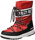 Moon Boot We Sport Jr WP, Stivali da Neve Unisex-Bambini, (Nero/Rosso), 32 EU