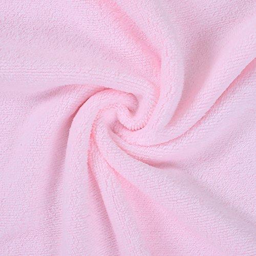 DANCICI Badetuch Dicke Spitze Stickerei erwachsene Paare mit Brust Badetuch weich Saugstark Fusselfrei intensivieren nicht verblasst dann Handtücher Stickerei 140 * 70 cm, Weiß Rosa