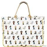 BUTLERS Peanuts Tragetasche 41x31x12 cm - Große Einkaufstasche - Weiße Tasche mit Henkel, Reißverschluss und Aufdruck