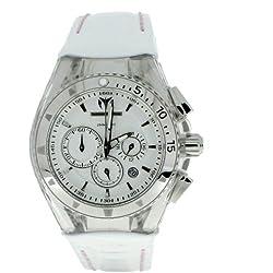Technomarine 110046 - Reloj cronógrafo de cuarzo unisex con correa de piel, color blanco