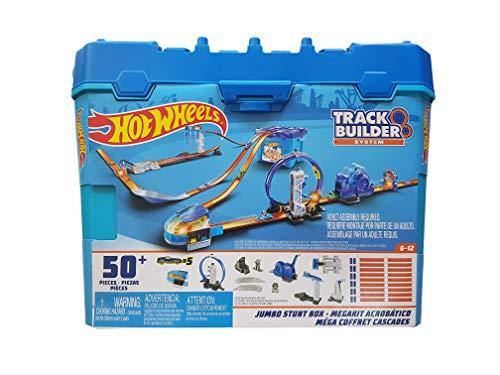 Hot Wheels Track Builder Jumbo Stunt Box Constructor de Pistas 50+ Piezas
