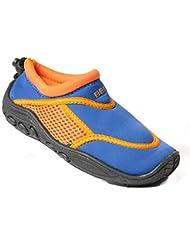 Beco combinado Surf Zapatos Escarpines Azul/Naranja + Beach Agua pelota