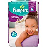 Pampers Premium Protection Active Fit Windeln Gr.5+ (Junior+) 13-25 kg Monatsbox, 124 Stück