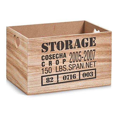 Zeller 15123-Caja de almacenaje Storage, MDF/Madera, Natural, 33x 23x 20cm