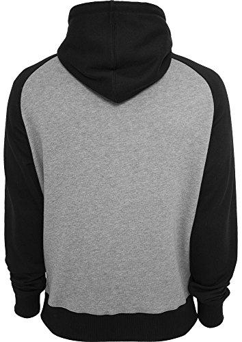 Urban Classics Herren Hoody - verschiedene Farben Grey/Black