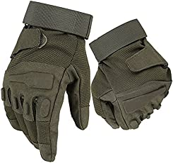 Blackhawk Tactical Gloves Military Armed Paintball Airsoft Shooting Combat Army Hard Knuckle Full Finger Gloves (XL, Green)
