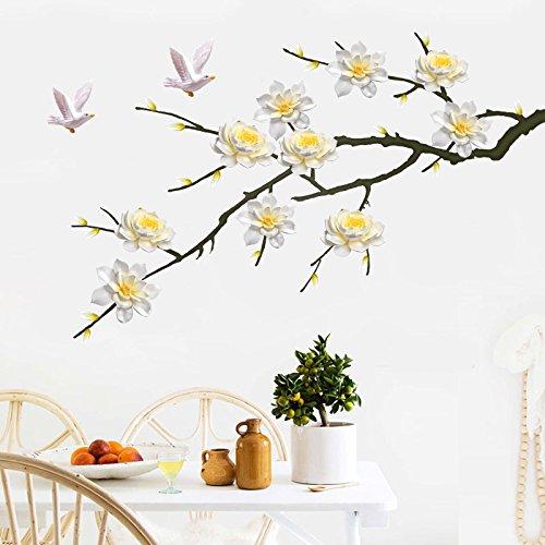 anzen Blume Wand Aufkleber Und Gemütliche Schlafzimmer Selbstklebende Kunst Zimmer Sind Wohnräume Wallpaper Wasserfeste Aufkleber 100*60 Cm (Wand-kunst-aufkleber Pflanzen)