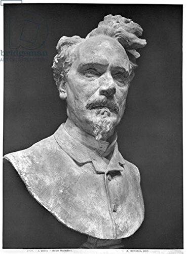 alu-dibond-bild-60-x-80-cm-bust-of-henri-rochefort-1830-1913-plaster-b-w-photo-bild-auf-alu-dibond