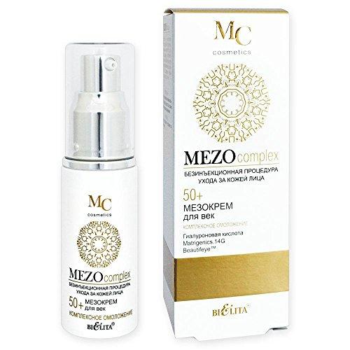 Belita-Vitex MEZOcomplex Anti-Aging Augencreme 50+, 30ml, mit Hyaluronsäure, Matrigenics.14G- und Beautifeye(TM)-Komplex, Aminosäuren (Taurin, Glycin, Arginin) (Haut Nase Ring)