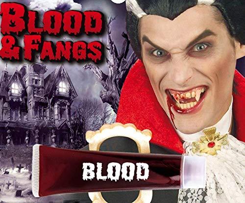 Piccoli monelli Denti vampiro con tubetto sangue halloween