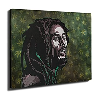 Weed Celebrity Bob Marley Peace Rasta Wall Art Canvas | Wellcoda - cheap UK light store.