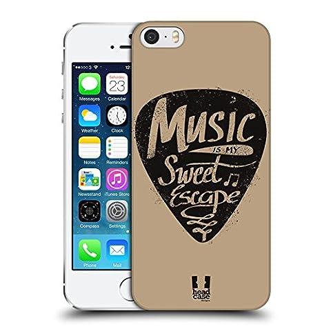 Head Case Designs Pioche De Guitare Pouvoir De La Musique Étui Coque D'Arrière Rigide Pour Apple iPhone 5 / 5s /