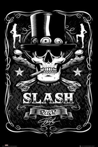 Empire Merchandising GmbH - Poster di Slash, con cornice multicolore