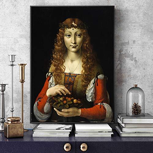 wukongsun Die berühmte Kirsche Mädchen rahmenlose Gemälde in der Heimat der italienischen Waren berühmten Künstler Leinwand Kunstwerk Leinwand Kunst 20cmx25cm