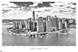 empireposter 738059 New York - Manhattan View - Poster Schwarz-Weiss Foto Manhattan New York, Papier, Bunt, 91.5 x 61 x 0.14 cm