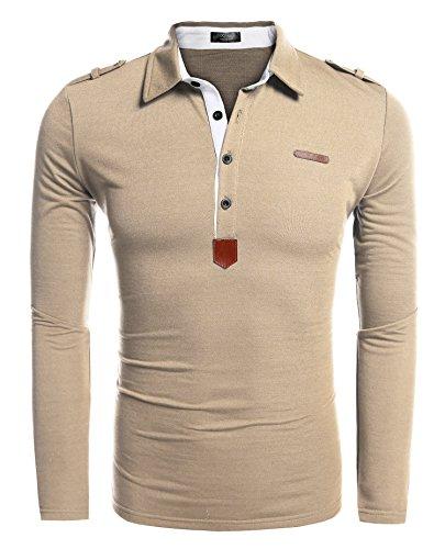 9625d5db22dd COOFANDY Herren Poloshirt elegante Langarmshirts regular fit Langarmpolo  für Männer