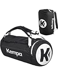 Kempa–Bolsa de deporte con función de mochila (Incluye pelota Red Negro/Azul 54x 28x 28cm, 40L, negro