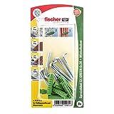 Fischer Spreizdübel SX Green 6x30 WH K, Inhalt: 8 x Dübel, 8 x Winkelhaken 4,2 x 40, 524830