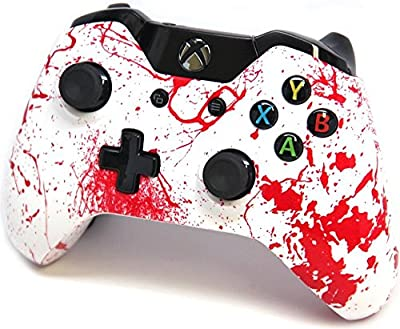 """Blood Splatter"" Xbox One Custom UN-MODDED Controller Exclusive Design"