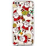 Hülle für Huawei P10 Plus, Hpory Handyhülle Huawei P10 Plus Weihnachten Muster Weiche TPU Silikon Transparent Rückseite Back Case Tasche Schutz Schutzhülle + 1 x Hpory Stylus - Weihnachtsmann