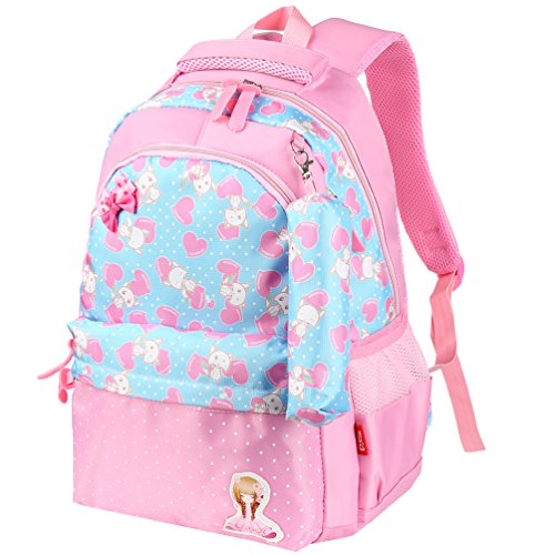 5c8ac6c698 Vbiger Kids Backpack Adorable Primary School Bag for Little Girls(Pink)