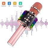 Karaoké Sans fil, Ankuka LED Lampe Coloré Microphone Bluetooth Haut-parleur...