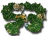 Weiste 705669 Weihnachtsgirlande Kunststoff Tanne mit Glocken und Sternen Länge 3,3 Meter